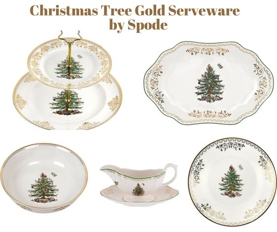 Christmas Tree Gold Serveware by Spode