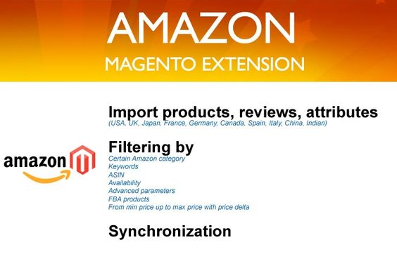 Check out how you can get started selling Amazon products to make extra cash.   Fast and easy import any products would you like to sell on Magento store with categories, descriptions, images, sizes and all attributes. All orders accumulated in your store will be processed by Amazon. As a referrer you will get up to 15% commission from Amazon.  Integrate Amazon fulfillment into your store.  Grab reviews from Amazon and post it on your store  as Magento reviews or display it in a special…