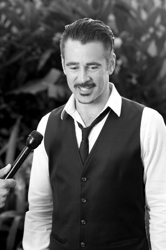 Colin Farrell transforms with old school moustache as he rocks flip flops and smart suit in new photoshoot - 3am & Mirror Online