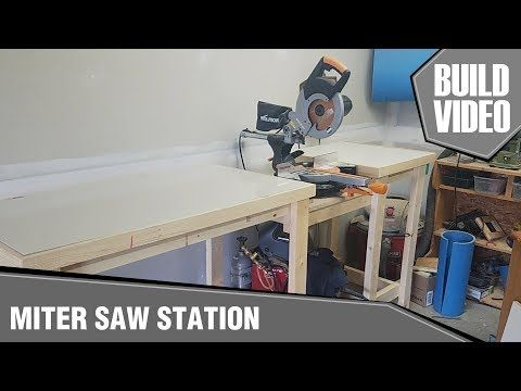 How To Build A Miter Saw Table Minimal And Affordable Miter Saw Mitre Saw Station Miter Saw Table