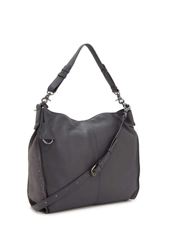 Grey Darcey Leather Hobo | Bags & Small Leather Goods | MintVelvet