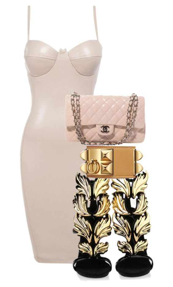 """""""Untitled #1192"""" by princess-maya13 ❤ liked on Polyvore featuring Giuseppe Zanotti, Chanel, women's clothing, women, female, woman, misses and juniors"""