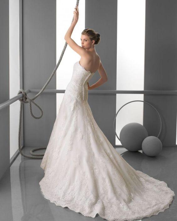 112 FARAH / Wedding Dresses / 2013 Collection / Alma Novia (back)