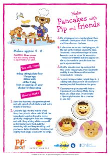 Have fun making pancakes with your child on Shrove Tuesday using this recipe.