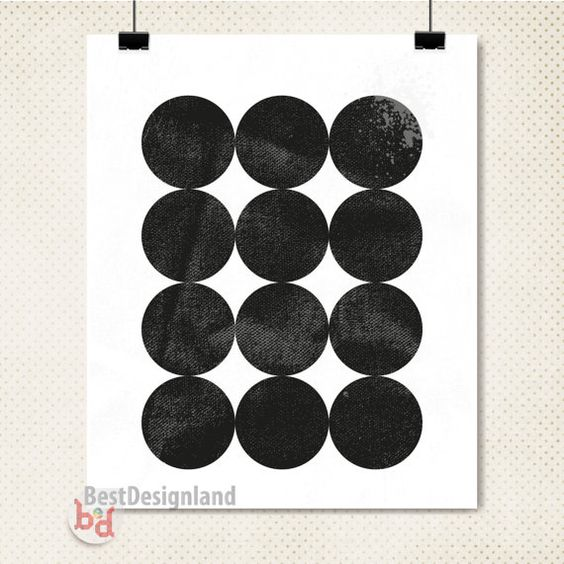 Instant Download geometric circles wall art by BestDesignland