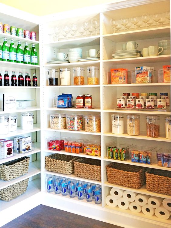 """In the home, I love a pantry,"" Amanda said. ""I get so excited to set up a pantry with all of its canisters and bins. The food is colorful, and it always looks so pretty!"""