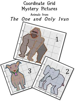 This is a set of three coordinate grids containing the coordinate ...