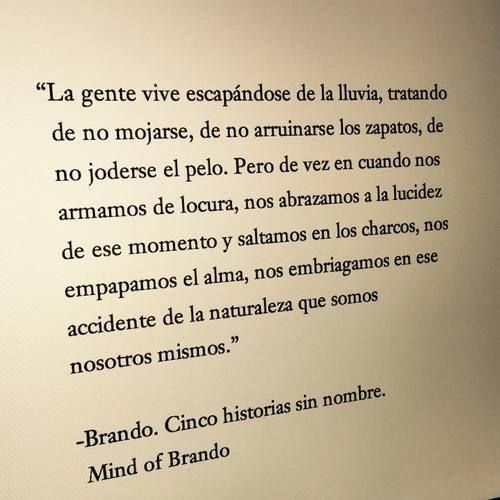 Cupuladelibros Brando Cinco Historias Sin Nombre Citas