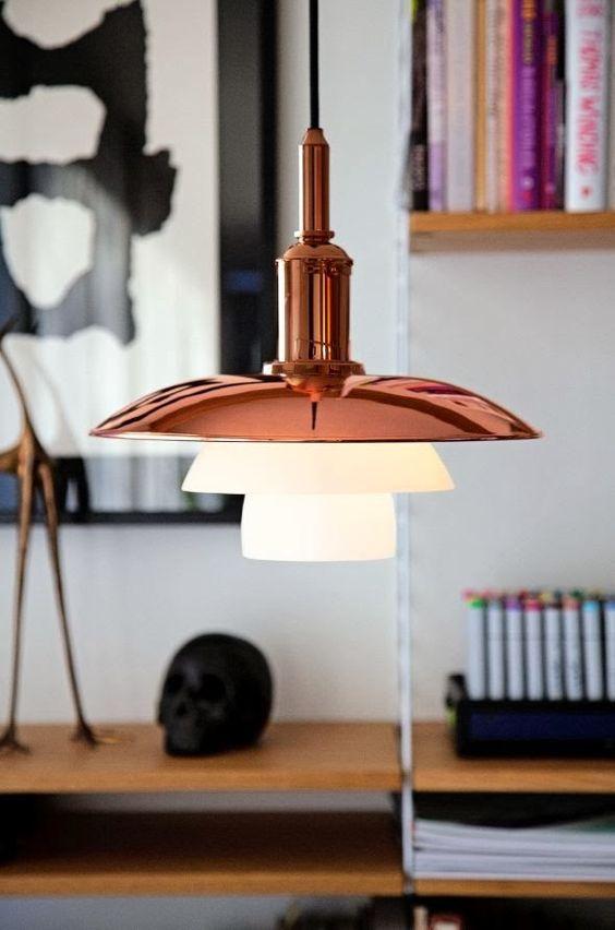 Superbe luminaire de la marque Louis Poulsen en cuivre http://www.scandinavia-design.fr/louis-poulsen-online.html /Design & The City