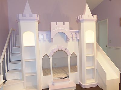 Details about new custom princess eleanor 39 s castle loft for Princess bed blueprints