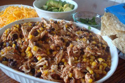 Crockpot Southwestern Chicken- trying this for dinner tonight