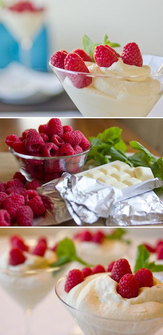 Mousse with Fresh Berries | White Chocolate Mousse, Mousse and White ...