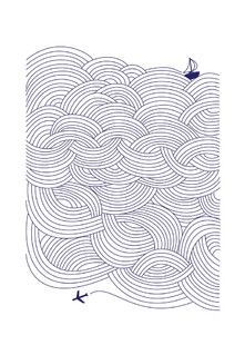 'Field of Waves' Art Print, by Papersheep Press on Minted.com