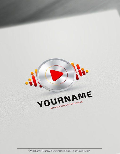 Create A Dj Logo For Free Play Music Logo Templates Logo Design Free Templates Dj Logo Logo Templates