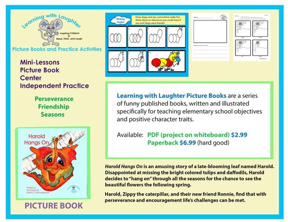 Picture book and related activities focused on the positive - positive character traits