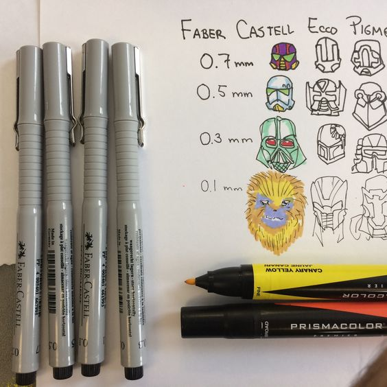https://flic.kr/p/MNmShu   Faber Castell Ecco Pigment Liners and Prismacolor markers test   Blog entry...