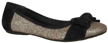 Sapatilha em tecido - Via Marte.  Modelo:12-11701 #Glitter / Eu queria tanto saber onde encontrar essa linda sapatilha... '