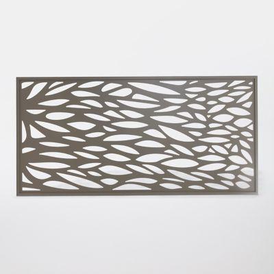 Panneau Feuille Aluminium Neva Taupe En 2020 Panneau Decoratif Jardin Panneau Castorama