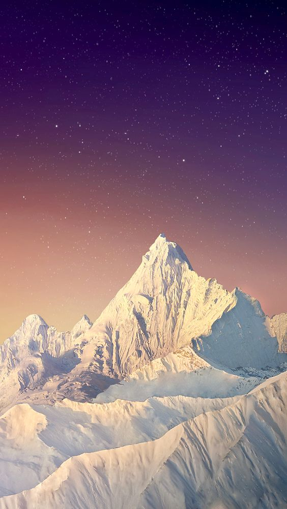 Snow Mountains iPhone Wallpaper