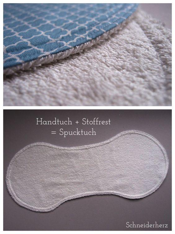 Spucktuch selber nähen DIY Schema
