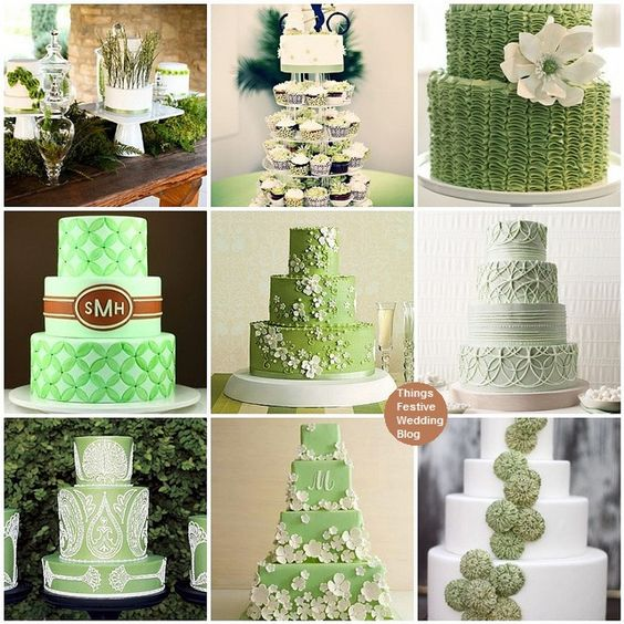 In love with green cakes now!!