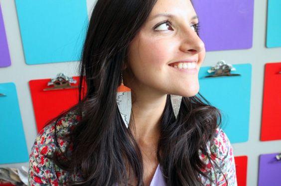 Dangly Earrings | 12 Creative Ways to Repurpose Newspaper