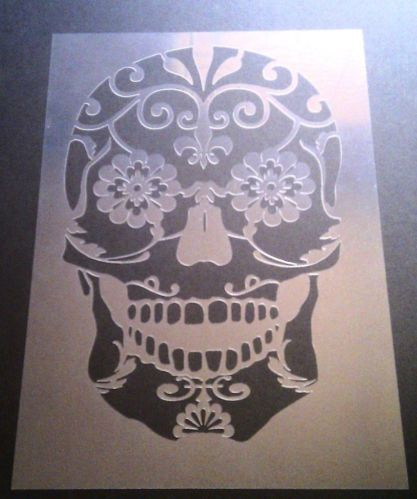 Sugar skull, Skulls and Stencils on Pinterest
