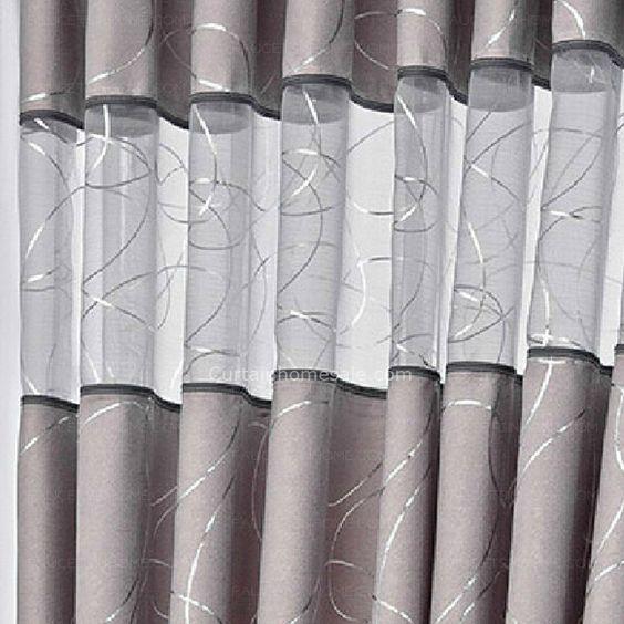 Elegante Grigio Suede Spessa tessuto Curtain: