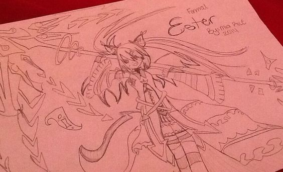 My character Ester I'm really glad on how it turned out!
