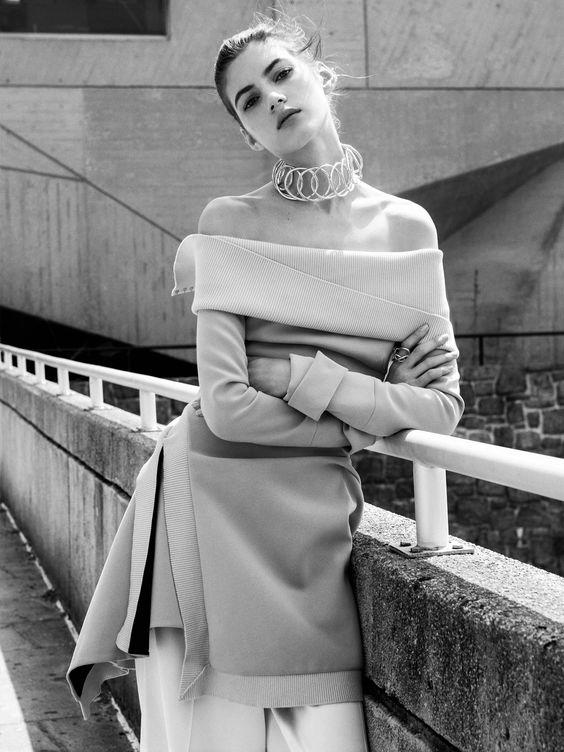 Model: Valery Kaufman. Photographer : Sebatian Kim. Vogue Russia July 2016