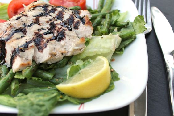 grilled chicken beans salads herbs nutrition balsamic chicken bean ...