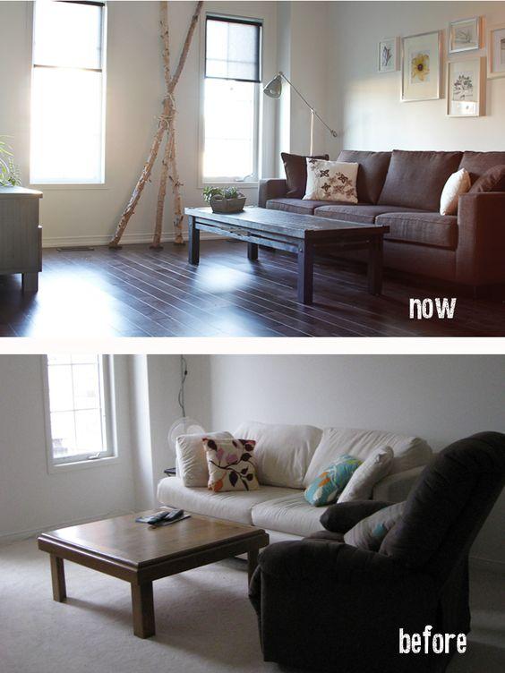 Livingroom. Project de-suburbanization of a townhouse. By DIFY Design