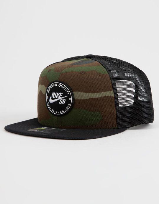 Nike Sb Pro Cap Patch Mens Trucker Hat Camo 925293 222 Mens Trucker Hat Nike Sb Trucker Hat