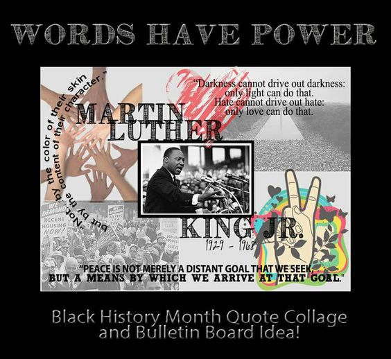 Words have power black history month lesson amp bulletin board