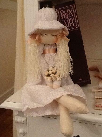Boneca de Pano Romantica branca