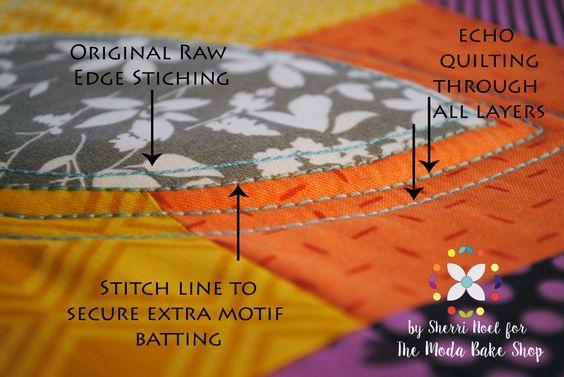 stitching orange peel quilt