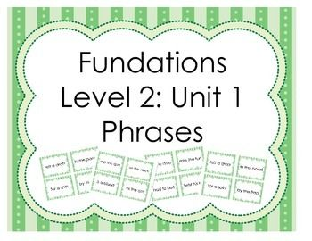 fundations lesson plan template - fundations level 2
