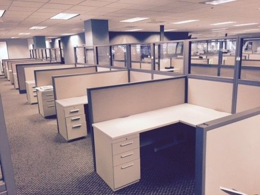Used cubicles Used office furniture and Used office chairs on
