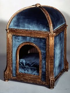 "A niche de chien for the the Queen's dog to keep snug and warm on a cold rainy day. It was made by Claude Sené. - from Marie Antoinette's village, ""the Hameau"", near Petit Trianon.   via Carla Goodnoh"
