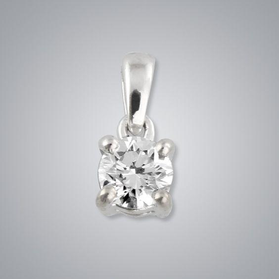 0.25ct Solitaire Diamond Pendant, SI1 clarity   Mikura