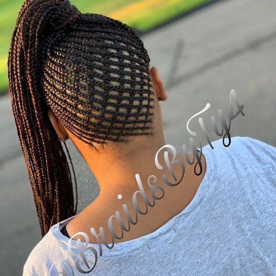 Feeder Braid Basket Weave Ponytail Braidbar Braider Neatbraids Clean Braidstyles Feederbr Braided Hairstyles Natural Hair Braids Cool Braid Hairstyles
