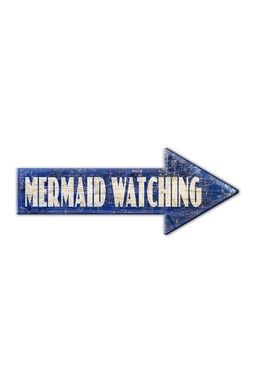 Mermaid Watching Sign @Christina Nicole