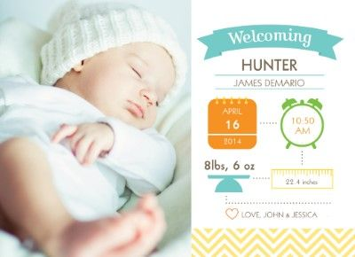 Cards & Invitations | Baby | Birth Announcements | Staples® Copy & Print