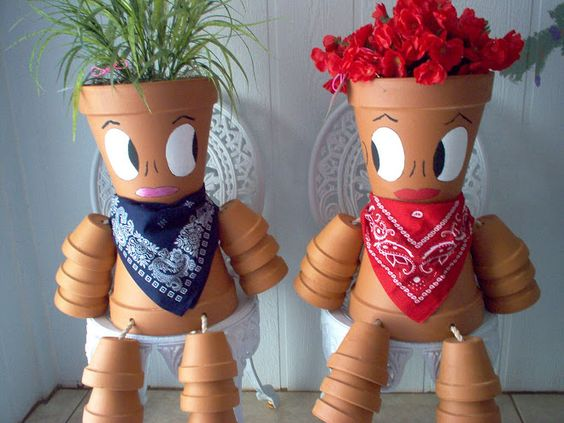 Clay Pot People Pots And Clay Pots On Pinterest