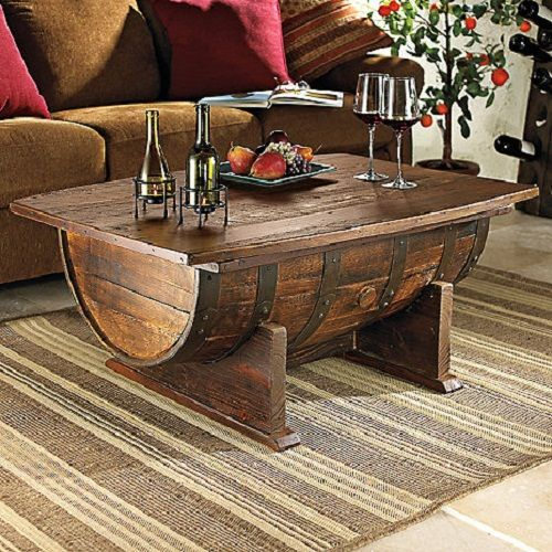 Wine Barrel Coffee Table Idea To Look Crazy But Stylish | Table Design  Ideas | Pinterest | Wine Barrel Coffee Table, Barrel Coffee Table And  Barrels