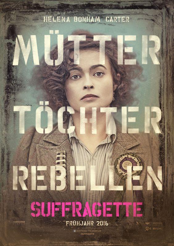 """Suffragette - Taten statt Worte"" - ab Februar 2016 im Kino! #suffragette #kino #HelenaBonhamCarter"