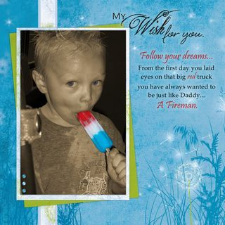 Isolate Color in Photo Wish #Digital #Scrapbooking Layout from Creative Memories    http://www.creativememories.com
