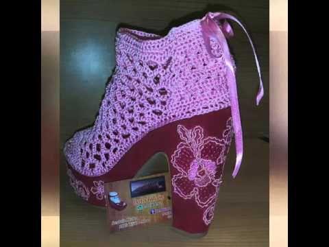 Zapatos Botines, Zapatos Sandalias, Babuchas Tejidas, Zapatos Crochet, Zapatillas, Tejidos Dezapatos, Marexa Tejido, Tejidos Grandes, Sandalia 4