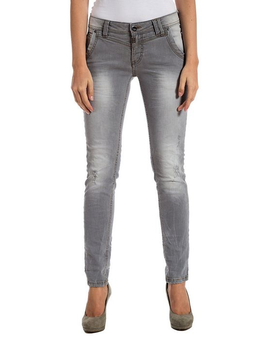 "TIMEZONE Jeans »NaliTZ ""9020 light grey destroy""«  Quelle CH"