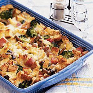 Ham and Mushroom Strata | Recipe | Strata Recipes, Hams and Mushrooms